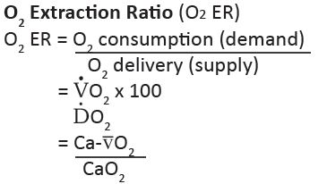 O2 Extraction Ratio O2 Er